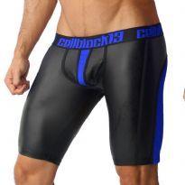 CellBlock 13 Vector Zipper Blue Shorts