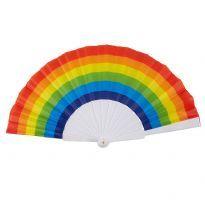 Rainbow Hand Fan
