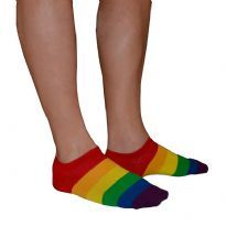 Rainbow socks low