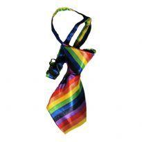 Dogs Rainbow Tie