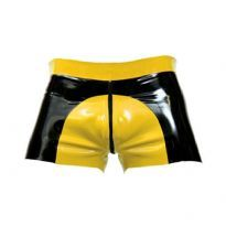 Rubber saddle shorts - Yellow