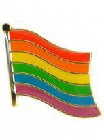 Wavy Rainbow Flag pin