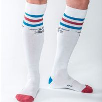 Mister B Urban socks - White - blue/red/blue