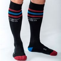 Mister B Urban socks - Black - red/blue/red
