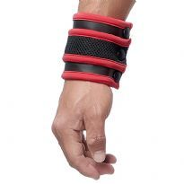 Mister B Neoprene Wrist Wallet - Black/Red