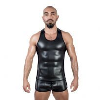 Mister B Neoprene Tank Top - Black