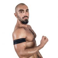Mister B Neoprene Biceps Band - Black/Black