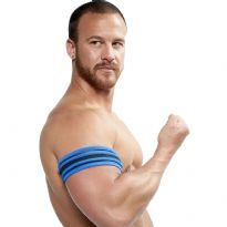Mister B Neoprene Biceps Band - Black/Blue