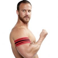 Mister B Neoprene Biceps Band - Black/Red