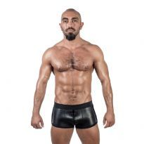 Mister B Neoprene Shorts 3 Way Full Zip - Black/Black