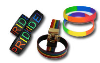 Show discreetly your support for gay pride, Pride bracelets in gorgeous rainbow colors, Cheap gay pride accessories