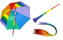 Everything needed for a gay pride look, Rainbow products for gay pride, Show your price in rainbows