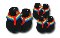 Flip flops in the colors of the Pride Rainbow, Get ready for the Pride, Rainbow products for gay men