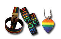 Show your gay pride, Bracelets and necklaces in the rainbow colors, Jewellery for gay pride in rainbow colours