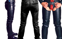 Leather pants that fit like a dream, Fine quality leather pants and chaps, Leather pants and chaps for leather fetish guys