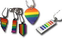 Wear the rainbow around your neck, Show your pride with a cool pride necklaces, Jewellery for gay pride