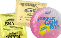 Special condoms with effects, Condoms for delaying cuming, DAMS condoms for safe rimming