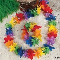 Rainbow Flower Power Lei