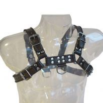 Chest Harness Black with black sidelines