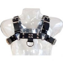 Chest Harness Saddle Leather Black