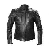 Mister B black biker leather jacket
