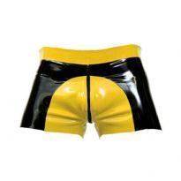 Rubber saddle shorts - Yellow