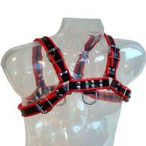 Chest Harness Black with Red sidelines