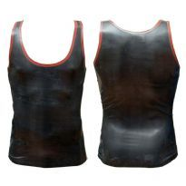 Rubber tank top with red edges