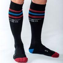 MisterB Urban socks - Black - red/blue/red