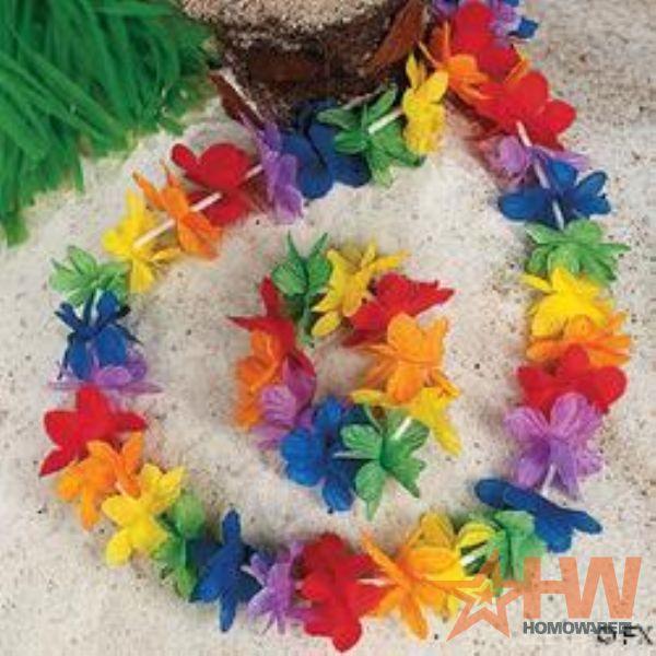 Гирлянды на гавайскую вечеринку своими руками