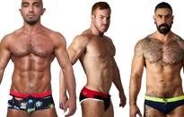 Sexy swimwear for men, Great looking swimwear for pool and beach, Pack your swimming trunks with you to the holiday