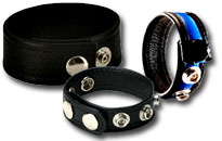 Masculine leather cock ring for fetish guys, Leather feels comfortable against your cock, Hard dick with leather cock ring