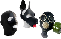 Gas masks are hot in bed and fetish party, Choose a hood for your puppy, Enjoy puppy play in a sexy dog mask