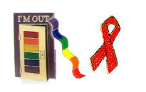 Beautiful rainbow pins to show off your pride, Various gay themed pins, Rainbow pins for the gay pride