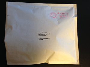 If your products can be shipped securely in a padded envelope this is how it will look.